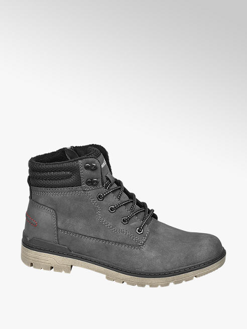 Landrover Mens Landrover Casual Grey Lace-up Boots