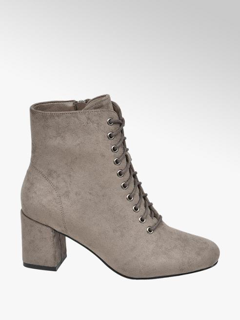 Graceland Grey Heeled Ankle Boots
