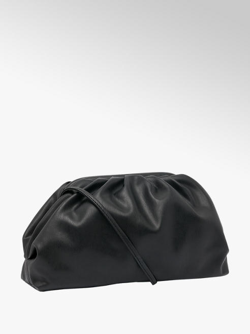 Graceland Black Slouchy Clutch Bag