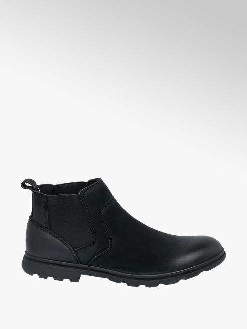 Hush Puppies Mens Hush Puppies Tyrone Black Leather Chelsea Boots