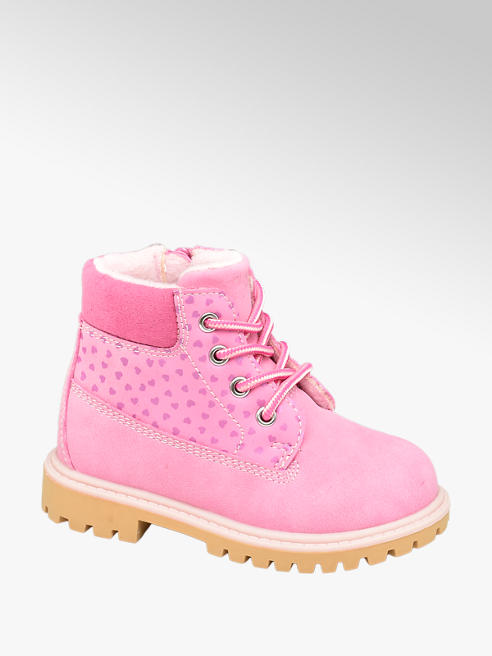 Cupcake Couture Toddler Girl Heart Print Lace-up Ankle Boots