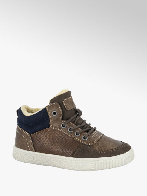 Vty Bruine halfhoge sneaker