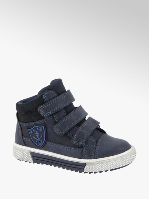 Bobbi-Shoes Blauwe boot klittenband
