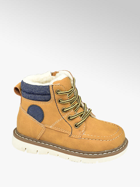 Bobbi-Shoes Toddler Boy Warm Lined Lace-up Ankle Boots