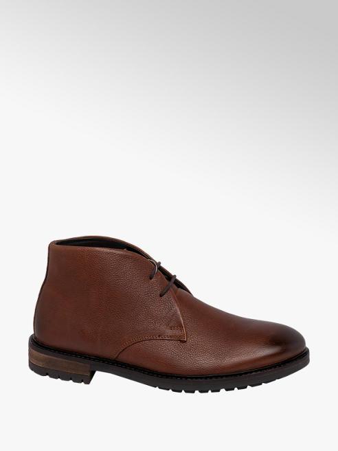AM SHOE Mens Leather Lace Up Boots