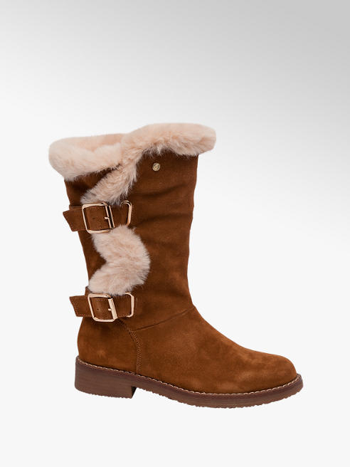 Hush Puppies Tan Suede Boots