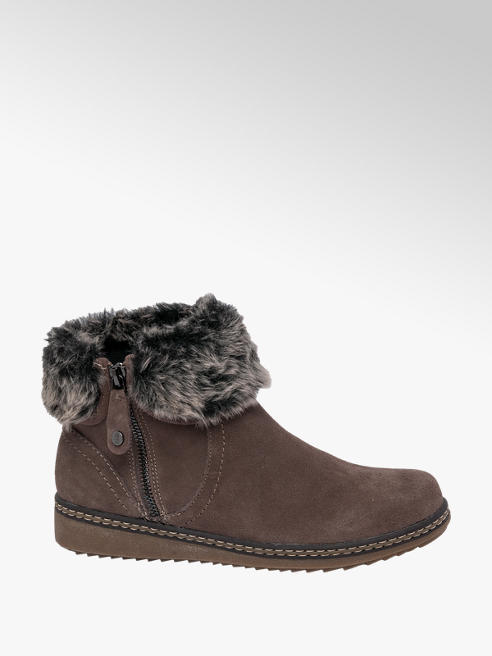 Hush Puppies Dark Grey Suede Ankle Boots