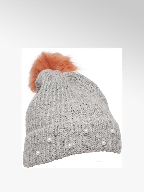 Ladies Grey Bobble Hat