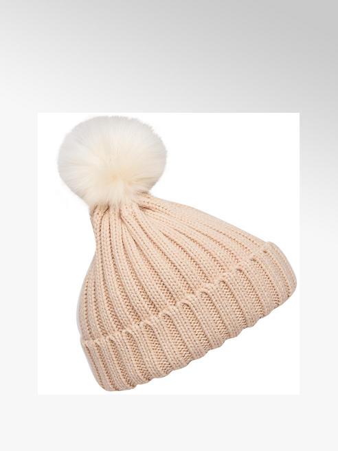 Ladies Cream Bobble Hat
