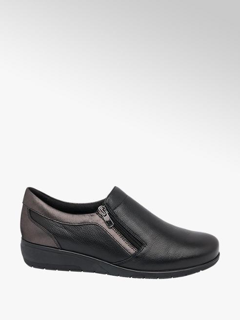Easy Street Ladies Leather Zip Detail Comfort Shoes