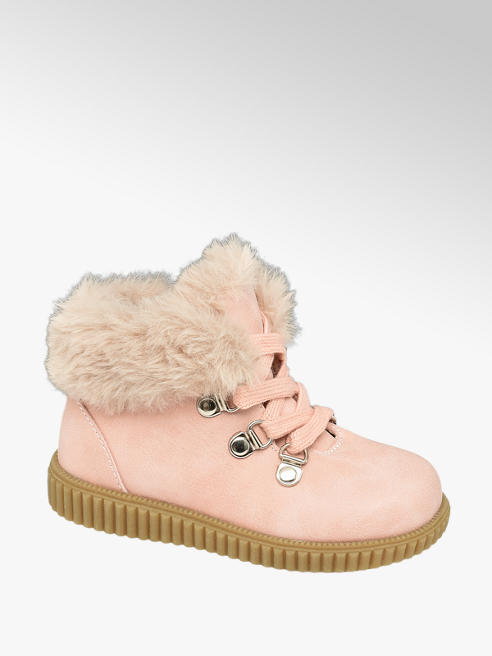Cupcake Couture Toddler Girl Faux Fur Detail Ankle Boots