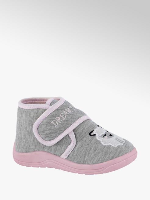 Cupcake Couture Grijze pantoffel klittenband