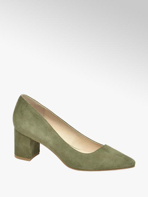 5th Avenue Pantofi de dama oliv cu toc bloc