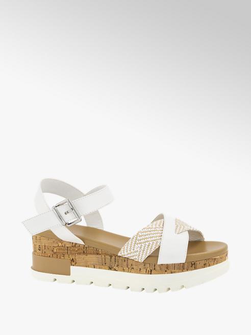 Oxmox Witte sandalette platform