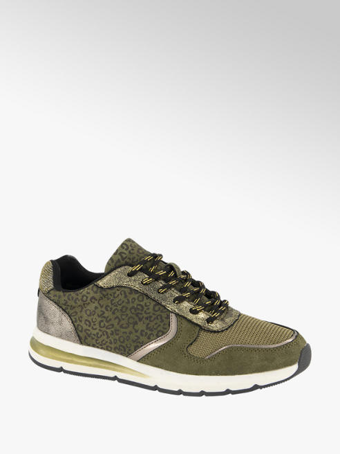 Graceland Groene sneaker panterprint