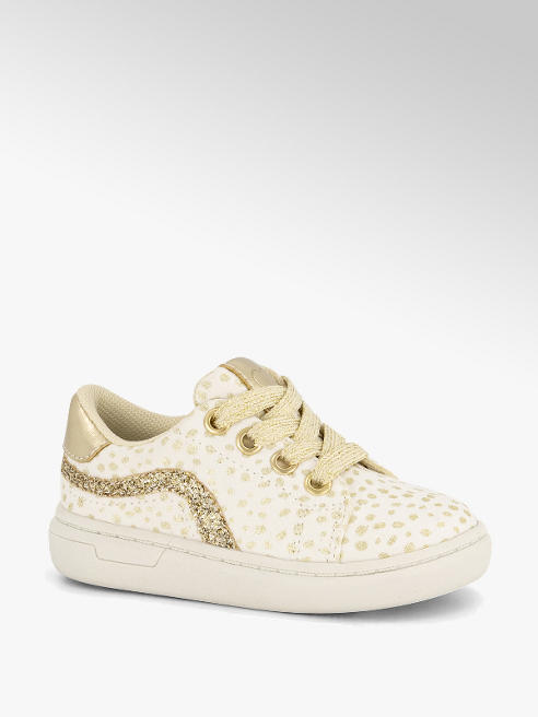 Cupcake Couture Witte sneaker stippen