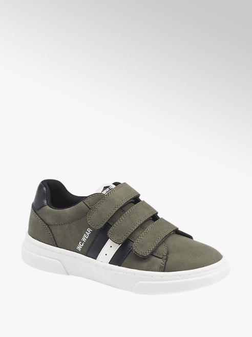Bobbi-Shoes Groene sneaker klittenband