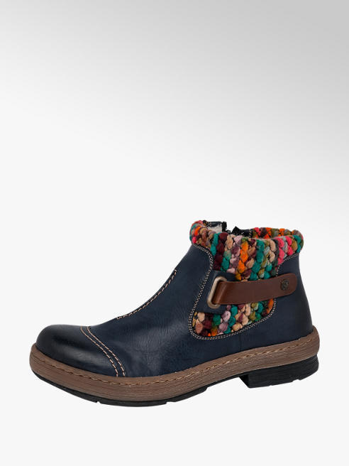 Rieker Navy Blue Ankle Boots