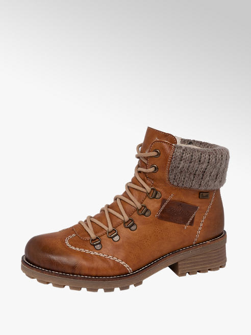 Rieker Tan Lace Up Ankle Boots