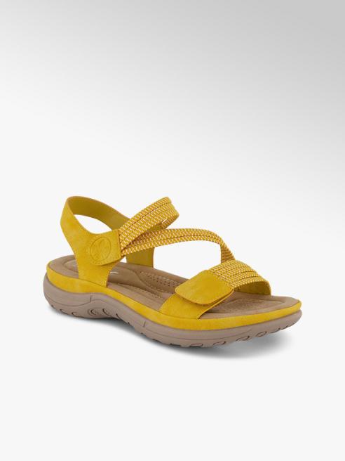 Rieker Rieker sandalette plate femmes jaune