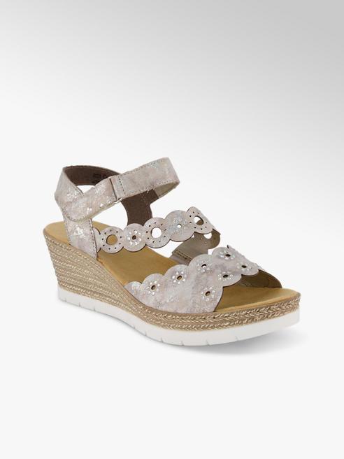 Rieker Rieker sandaletto alto donna argento