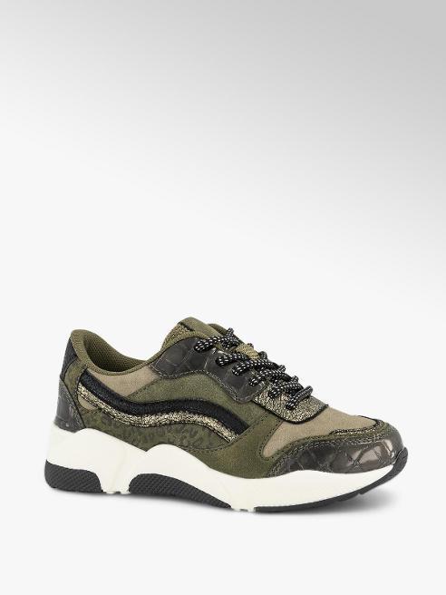 Graceland Donkergroene sneaker