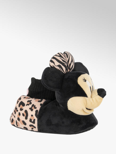 Minnie Mouse Zwarte Minnie Mouse pantoffel