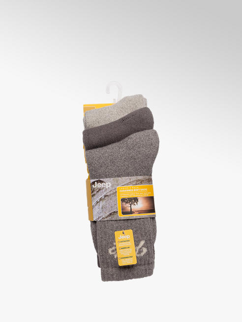 Ladies Jeep 3pk Boot Socks