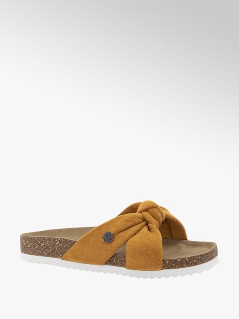 Esprit Bruine slipper knoop