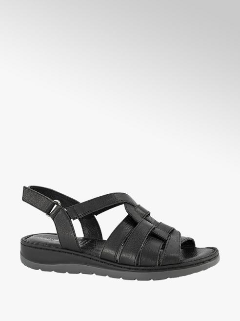Medicus Zwarte sandaal velcro