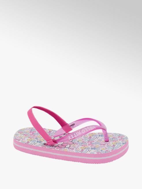 Hello Kitty Roze teenslipper elastiek