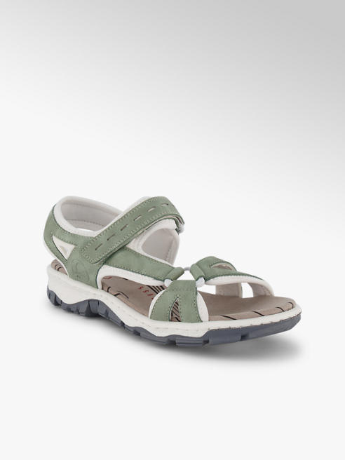 Rieker Rieker sandalette plate femmes vert