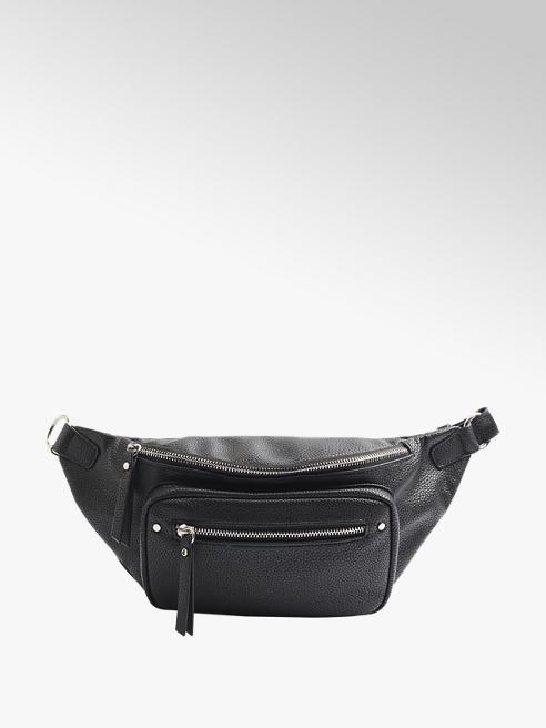 Graceland Дамска черна чанта за кръста Graceland
