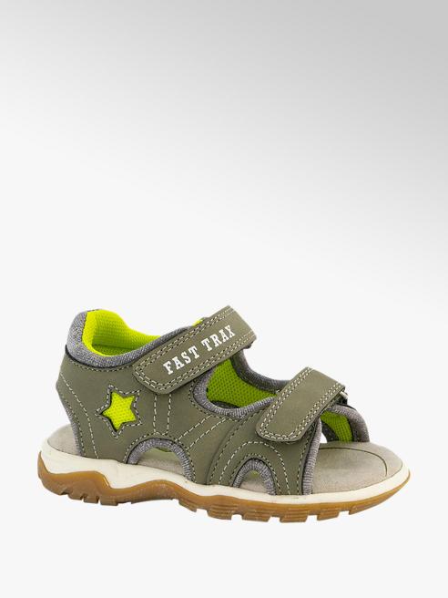 Bobbi-Shoes Groene sandaal velcro
