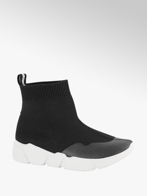 Graceland Zwarte sok sneaker