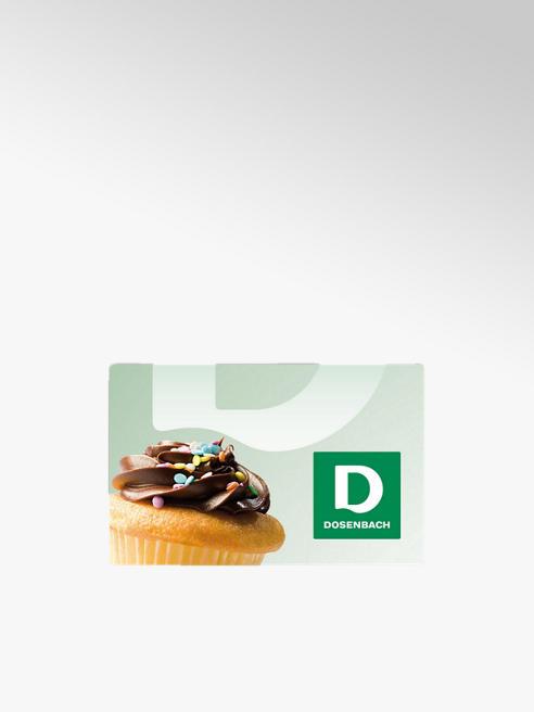 Dosenbach Carte cadeau avec motif cupcake