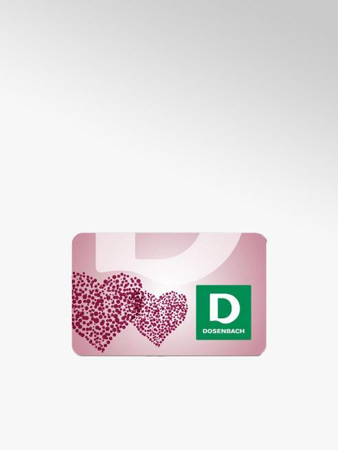 Dosenbach Carte cadeau avec motif coeur