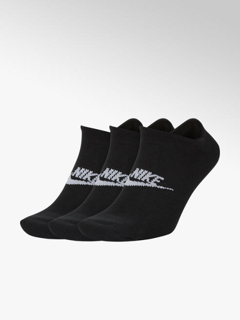 Nike Zwarte Essential No Show 3 pak mt 42-46