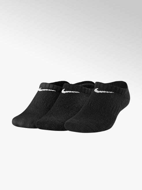 Nike Zwarte No Show Cushion 3 pak mt 34-42