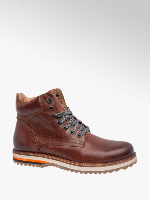 AM SHOE Mens Casual Lace-up Boots