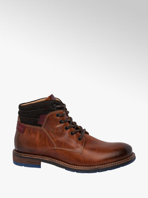 AM SHOE Mens AM Premium Casual Lace-up Boots