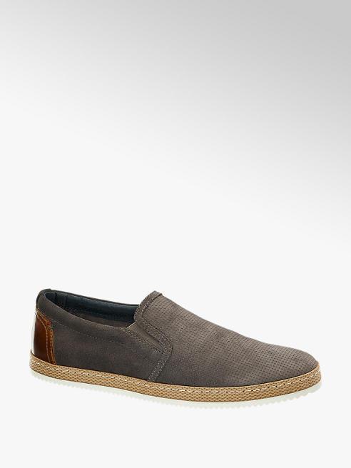 AM SHOE Leder Slip on Sneaker in Braun