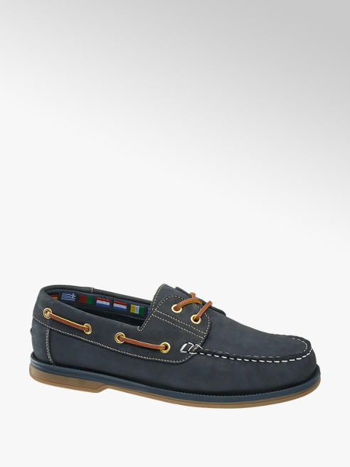 AM shoe Blauwe leren bootschoen