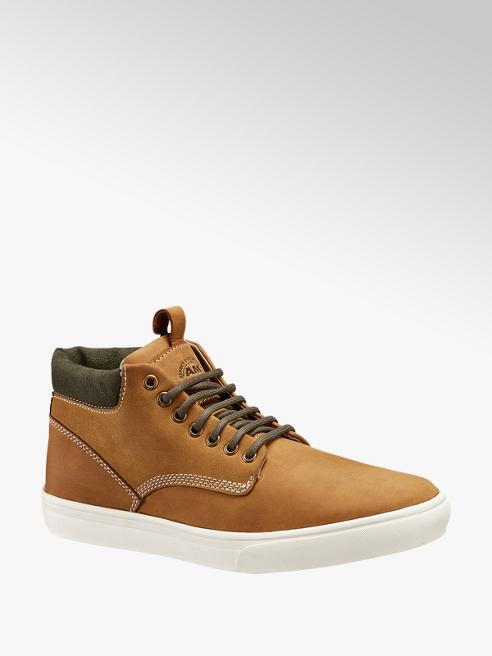 AM shoe Bruine halfhoge leren sneaker
