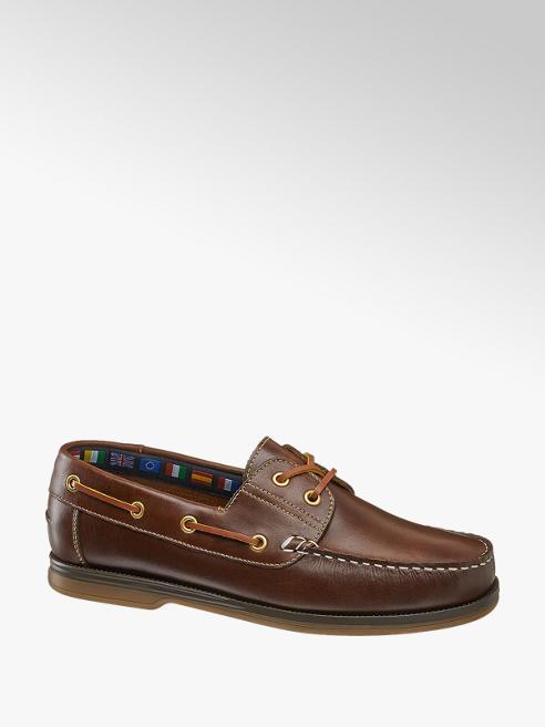 AM shoe Bruine leren bootschoen