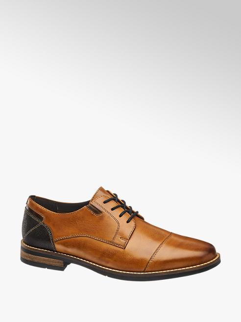 AM shoe Bruine leren geklede schoen vetersluiting