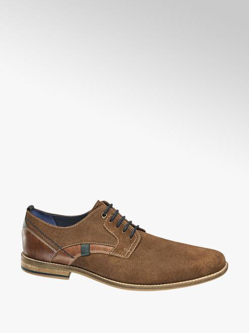 AM shoe Bruine suède geklede veterschoen