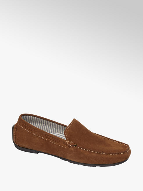 AM shoe Bruine suède loafer