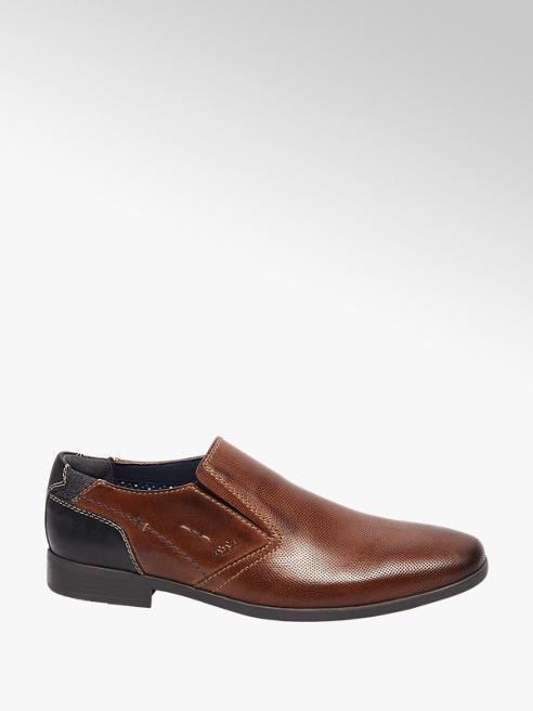AM shoe Cognac leren geklede instapper