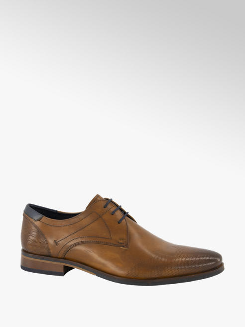 AM shoe Cognac leren veterschoen